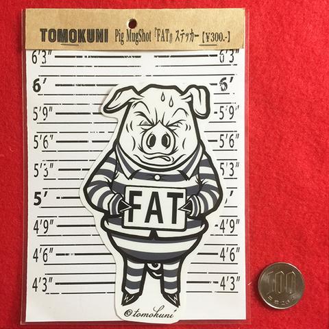 Pig MugShot 『FAT』 ステッカー