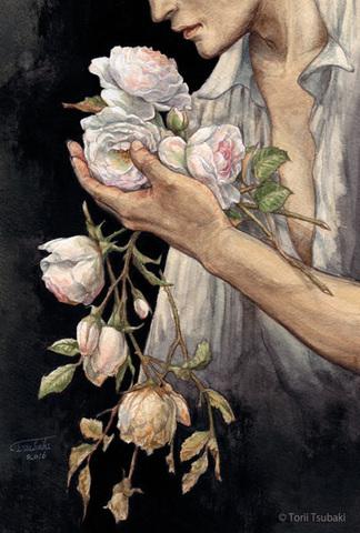 ポストカード「薔薇の花をひとたび摘めば」