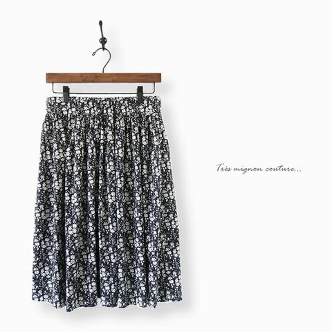 リバティ Capel ギャザースカート (木いちご)