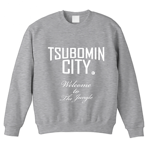 【LIMITED EDITION】TSUBOMIN / TSUBOMIN CITY BIG SIZE CREWNECK SWEAT GRAY