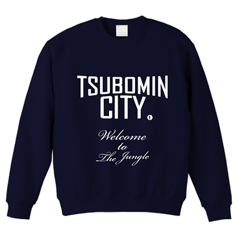 【LIMITED EDITION】TSUBOMIN / TSUBOMIN CITY BIG SIZE CREWNECK SWEAT NAVY