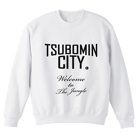 【LIMITED EDITION】TSUBOMIN / TSUBOMIN CITY BIG SIZE CREWNECK SWEAT WHITE