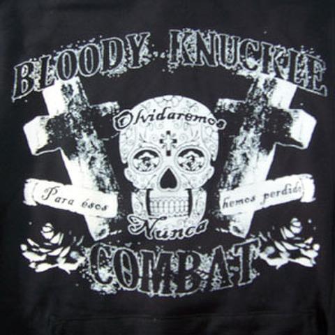 BLOODY KNUCKLE COMBAT skull HOODIE