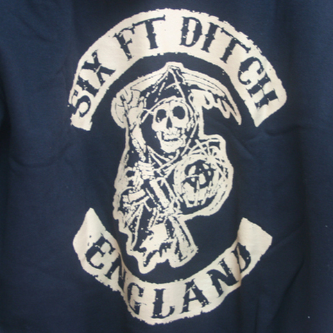 SIX FT. DITCH england HOODIE