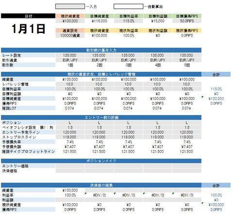 FX管理表スタンダード バージョン2.0