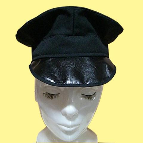 軍帽風帽子の型紙